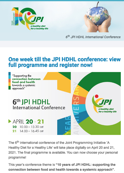 6th JPI HDHL International Conference