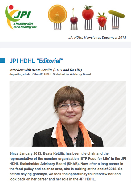 JPI HDHL Newsletter, December 2018