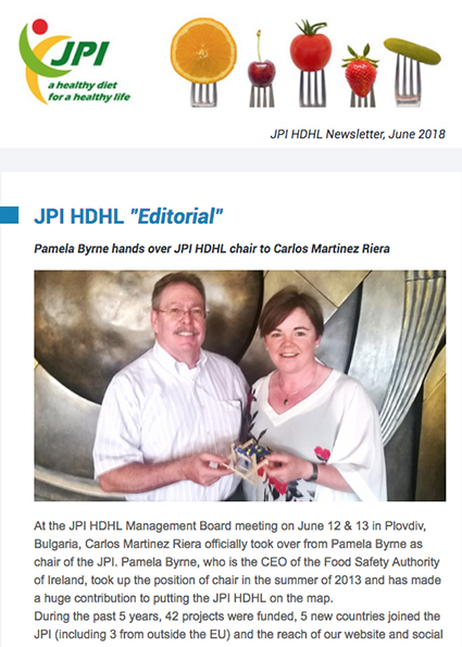 JPI HDHL Newsletter, June 2018